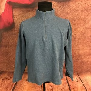 Orvis Blue 1/4 Zip Pullover Sweater XL